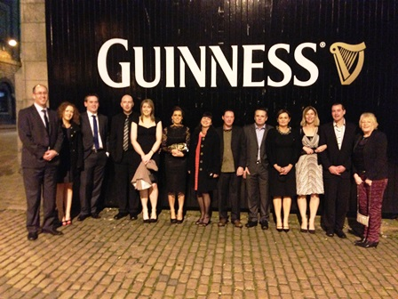 Learning Pool team outside the Dublin Guinness Storehouse ahead of the Awards