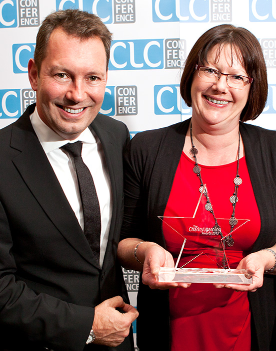 Pictured are Martin Baker, CEO and founder, the Charity Learning Consortium, with Velda Barnes, Head of L&D, Addaction