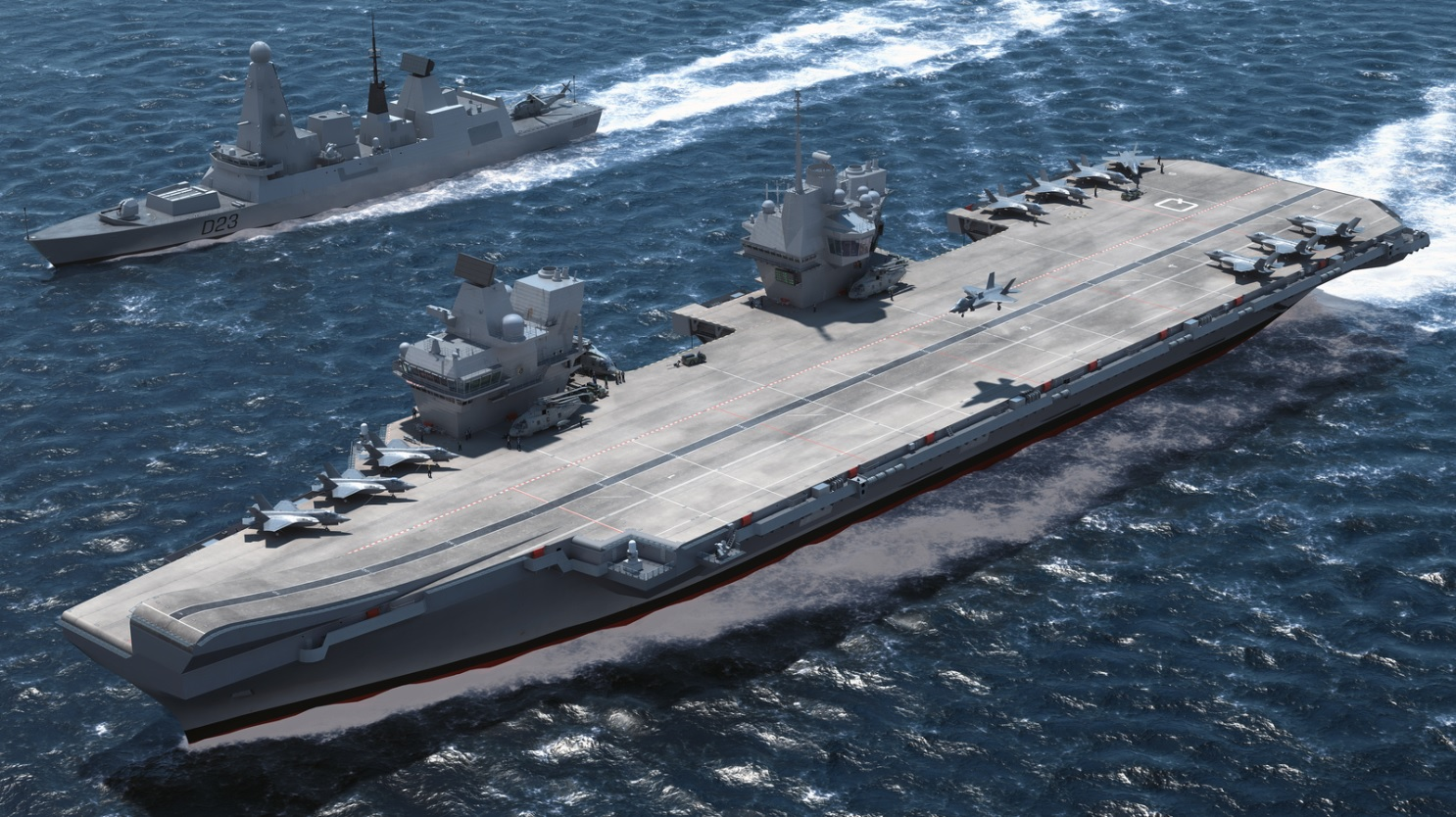 The UK's new flagship aircraft carriers