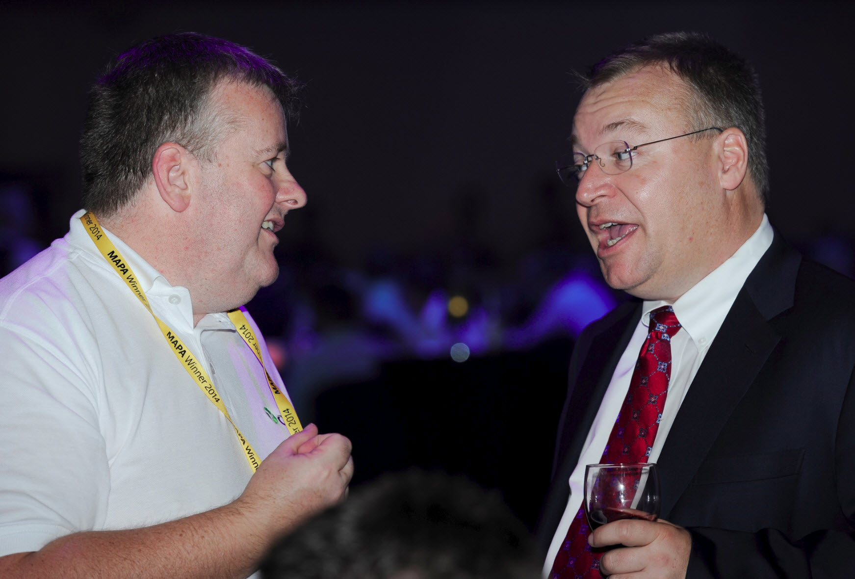 DDLS's Gary Duffield and Microsoft's Executive Vice President Stephen Elop