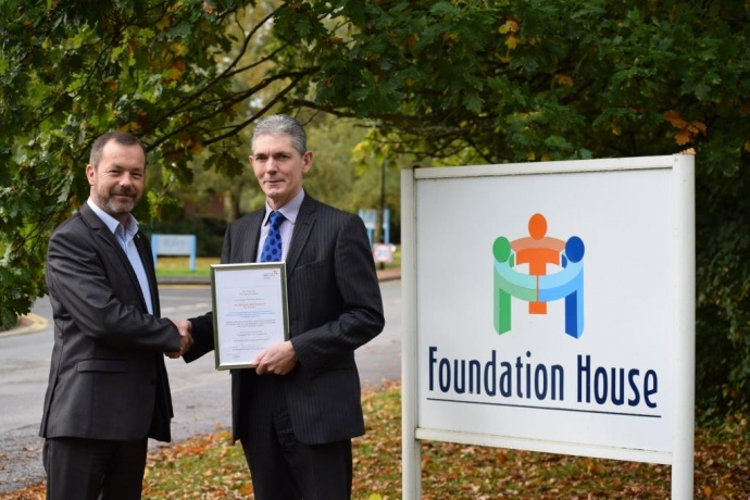 Pictured: Left Dug Harrison, Regional Manager, NSAN and Right Adrian Stokes, Director of Operations, The Training Foundation