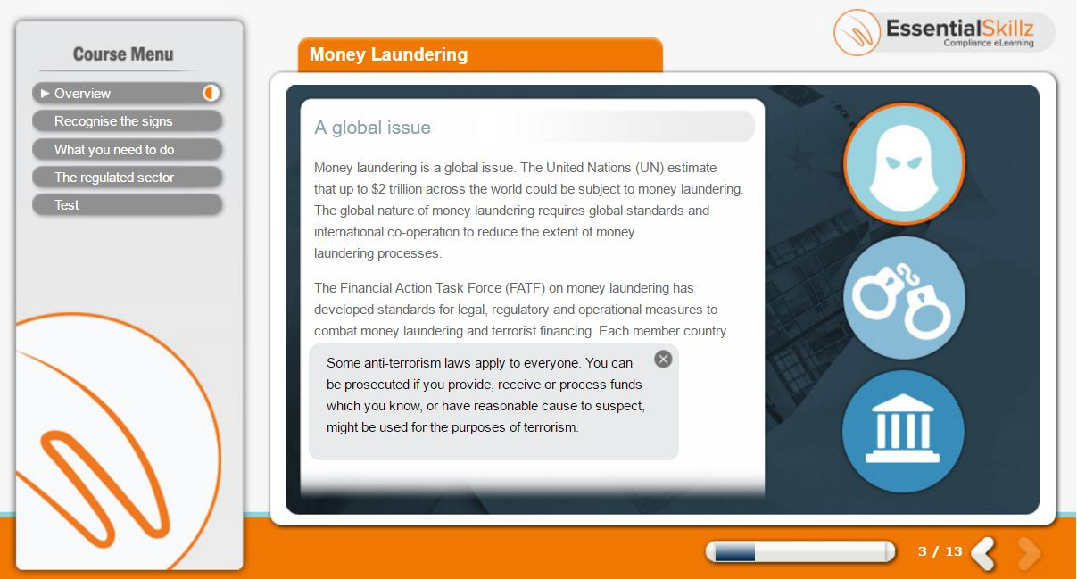 Money Laundering eLearning Course from EssentialSkillz