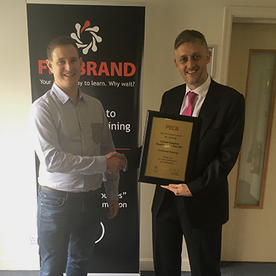 Bevan Miller, Firebrand Training's Head of Education, and Graeme Parker, PECB UK and Ireland Managing Director