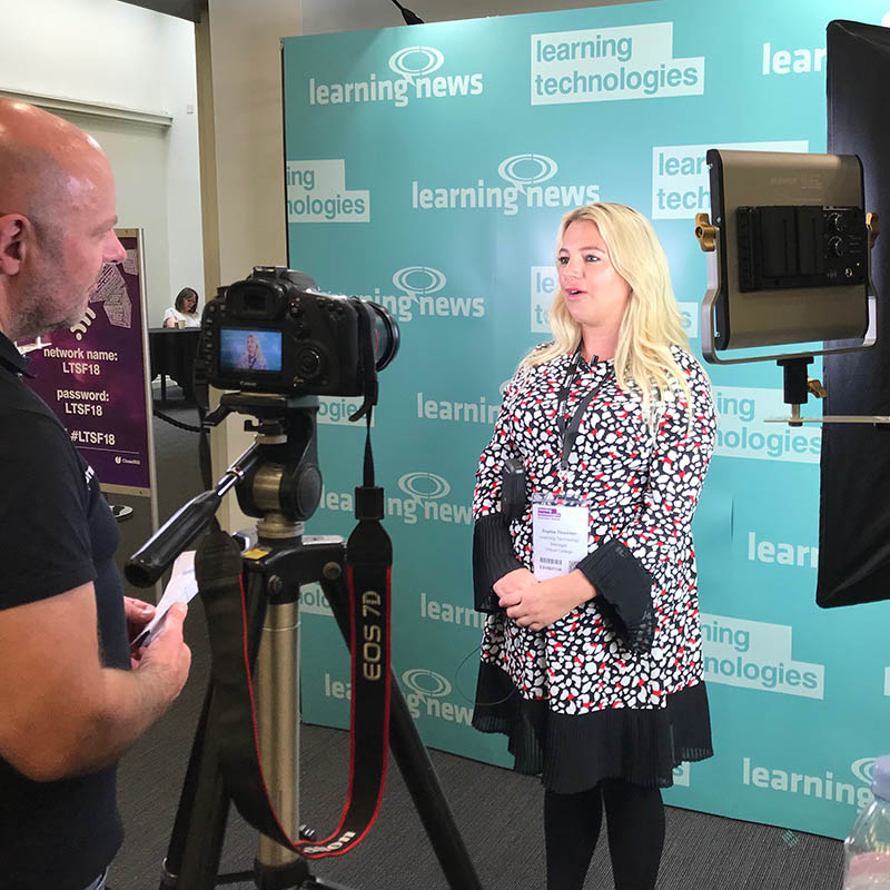 Filming at Learning Technologies Summer Forum 2018 in London