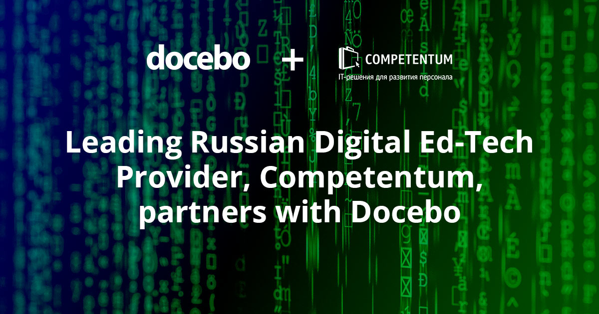 Leading Russian Digital Ed-Tech Provider, Competentum, partners with Docebo