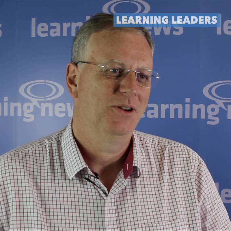 David Wilson, CEO, Fosway Group, being interviewed for Learning News' Learning Leaders series