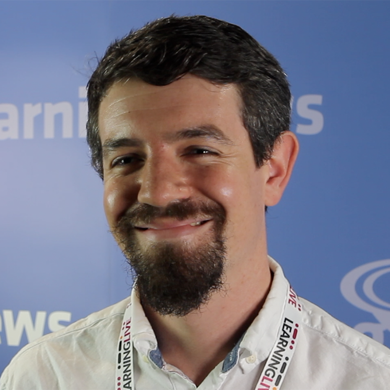 Artificial intelligence and personalisation in learning - an interview  at Learning Live 2018 with Toby Harris, Solution Architect at Filtered and Vice Chair of the Elearning Network