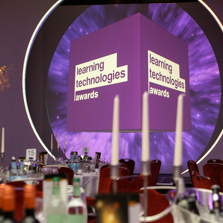 The Learning Technologies Awards 2018 gala evening takes place in London, 21 November