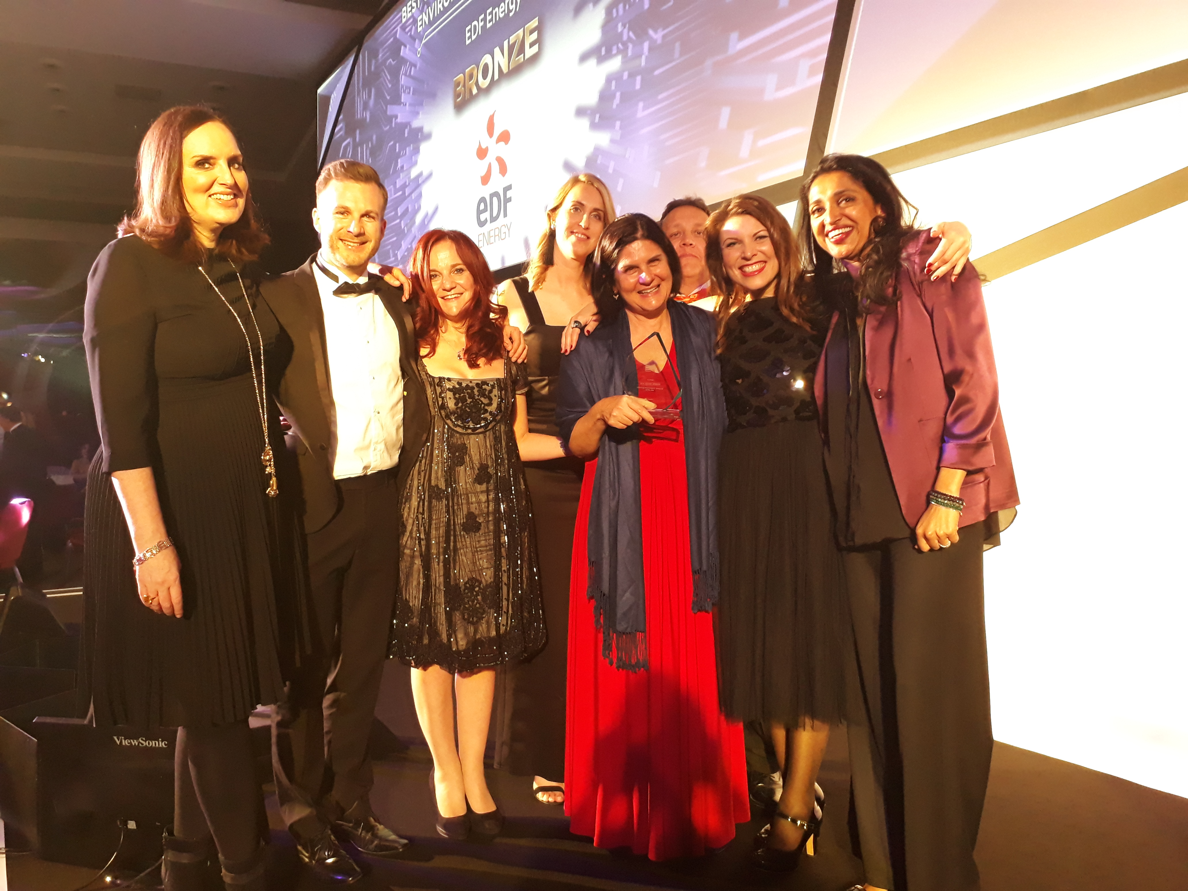 Sponge's founder and managing director, Louise Pasterfield, collects silver award for Learning Technologies Company of the Year