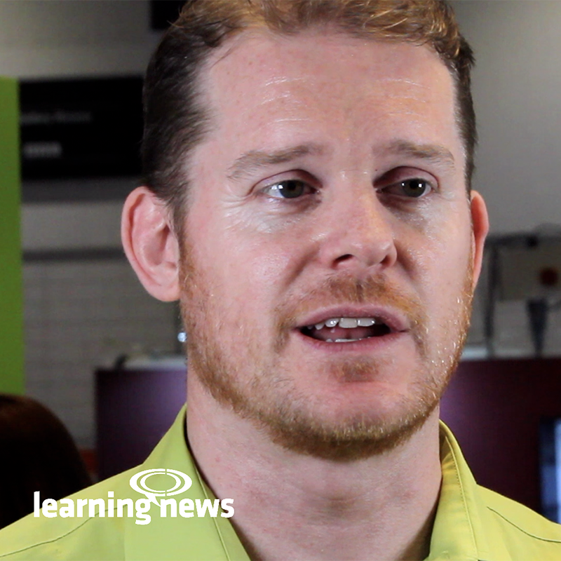 Alex Hathway, Nimble Elearning, talking to Learning News at LT2019