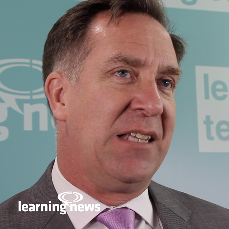 Donald H Taylor talking to Learning News at Learning Technologies 2019