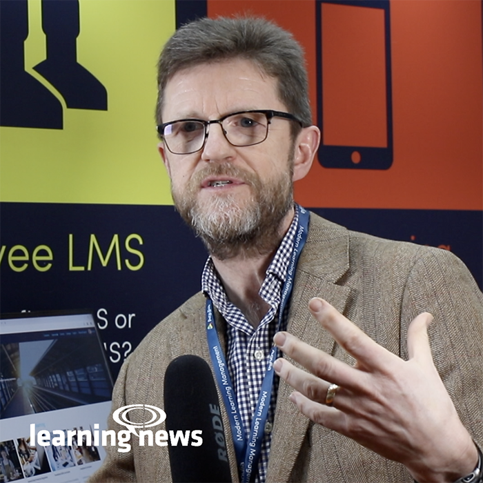 Alex Mackman, Technical Director, Agylia, talking to Learning News at LT2019