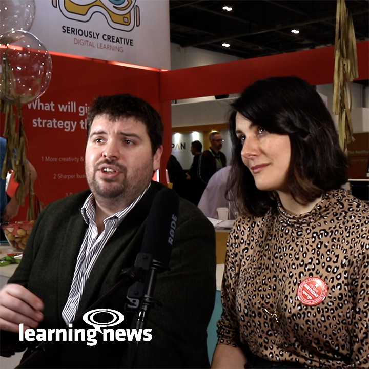 James Barton, Online Learning Manager, Royal Mail and Kate Pasterfield, Chief Innovation Officer, Sponge