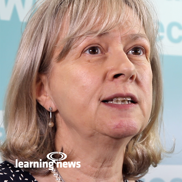 Jane Hart speaking at Learning Technologies 2019