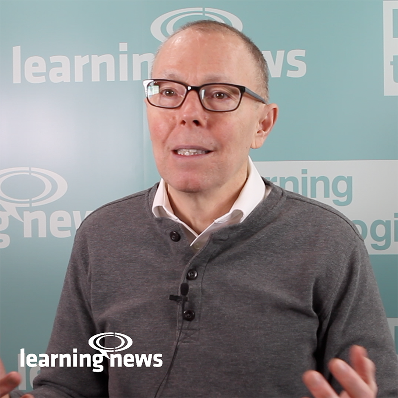 Will Thalheimer, learning evaluation expert, talking to Learning News at LT2019