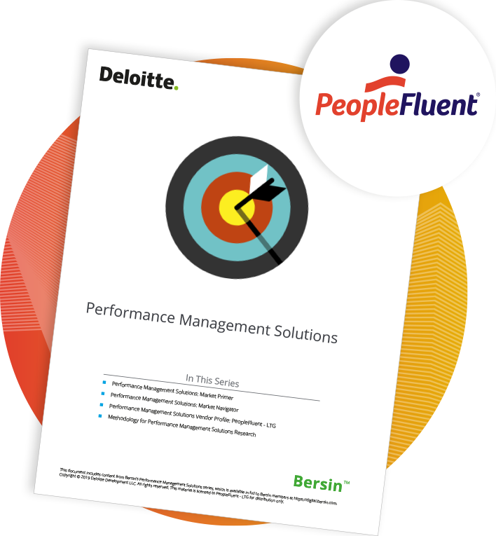 PeopleFluent has been featured in the 2019 Bersin Performance Management Solutions: Vendor Profiles report as a vendor equipped with all the expected standard and differentiated capabilities for performance management.