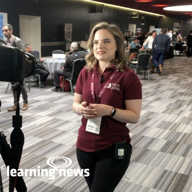 Ali Soper, Creative Director and Co-founder, MicroLearn, talking to Learning News at the Learning Technologies Summer Forum