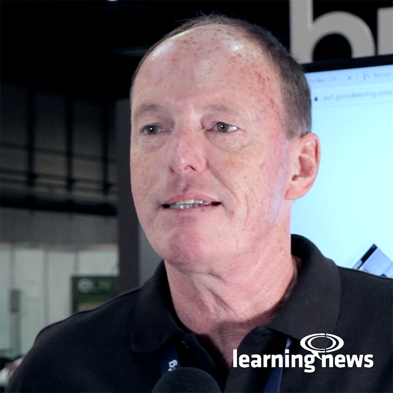 Mike Alcock, Global Sales Director for Instilled, talking to Learning News at World of Learning 2019
