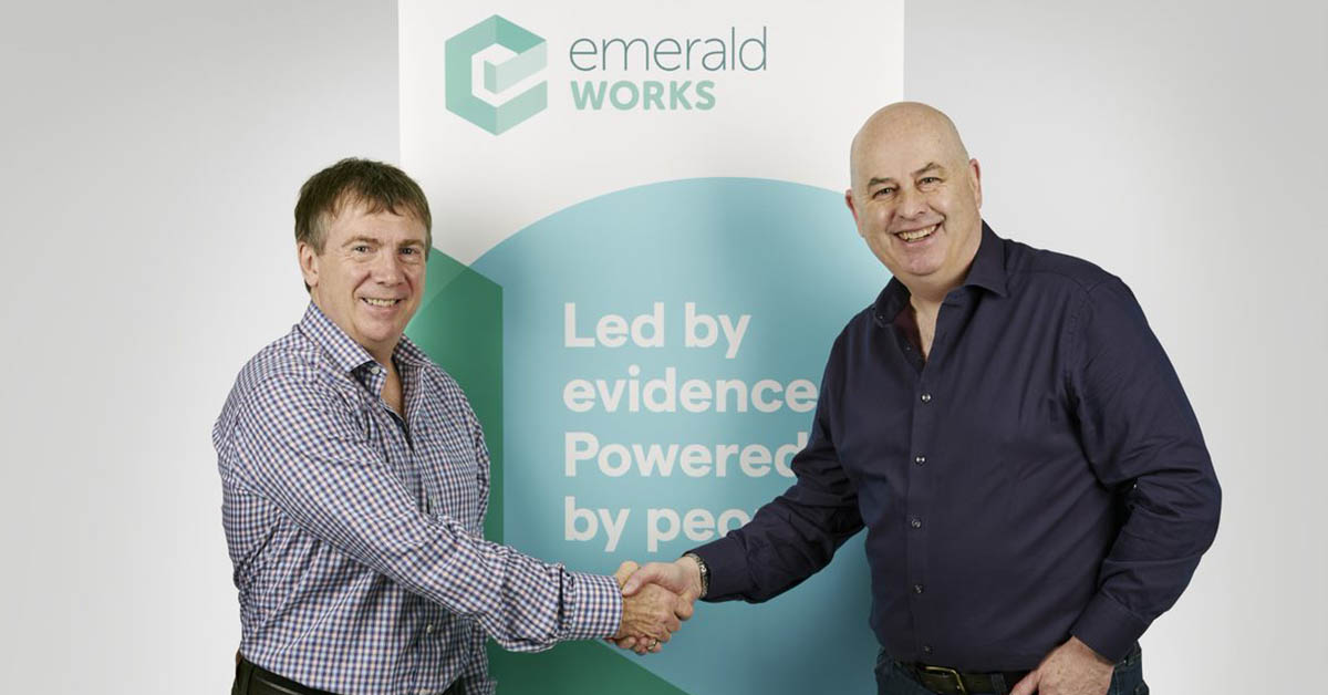 Richard Bevan, CEO of Emerald Group and Chairman of Emerald Works and Peter Casebow, CEO of Emerald Works