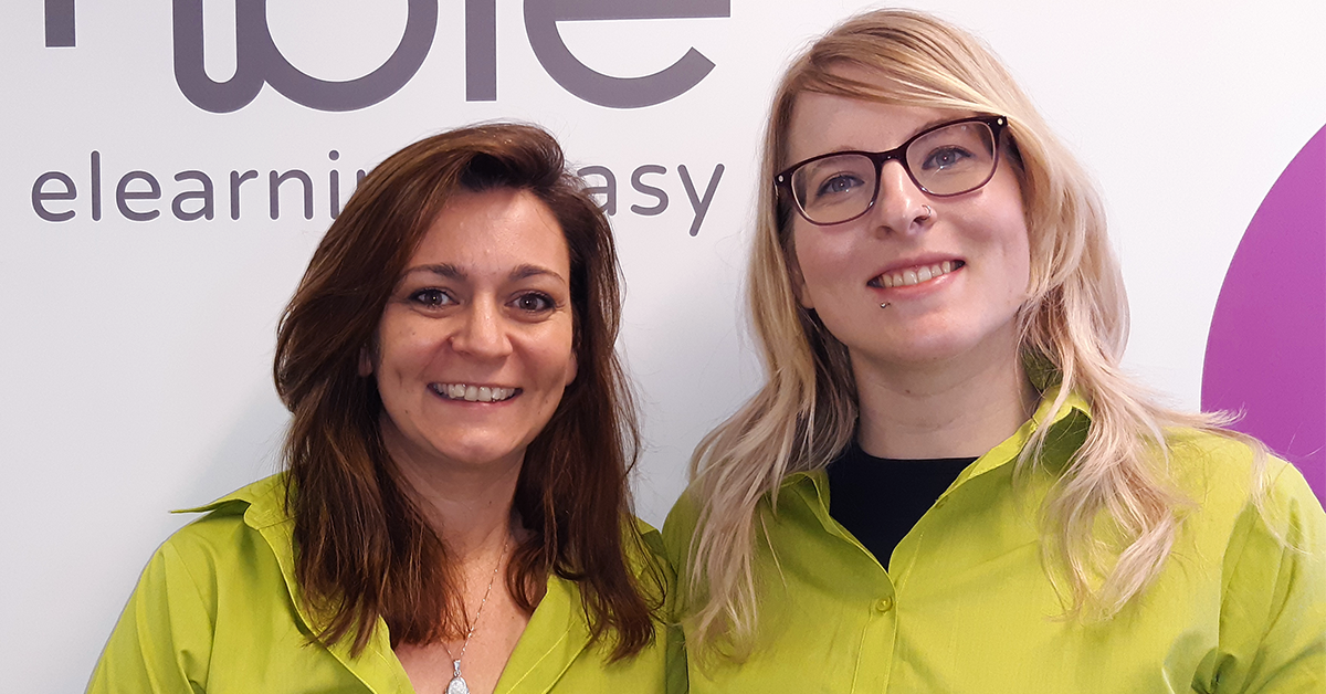 Nimble Elearning Learning Design team: Shaena Hathway, Nicola Beach