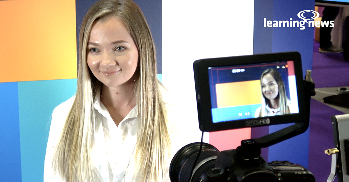 Polina Ionina, Community Manager, iSpring Solutions, talking to Learning News at Learning Technologies 2020