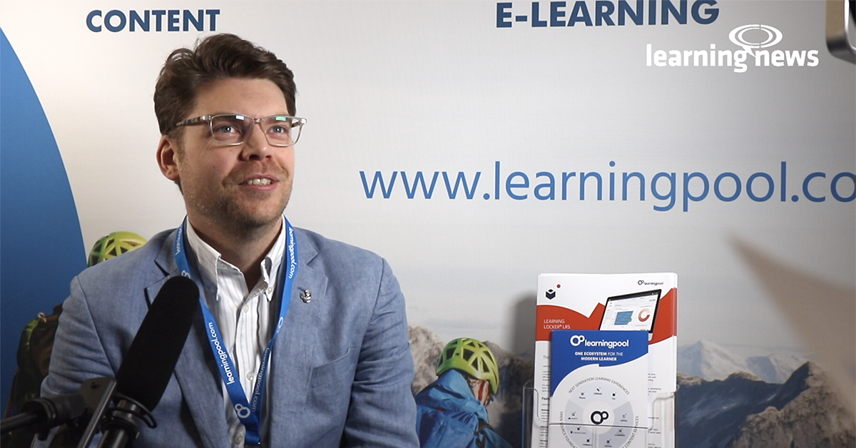 Ben Betts, Chief Product Officer, Learning Pool, in discussion with Learning News at Learning Technologies 2020