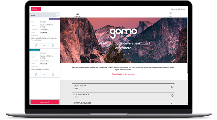 Cloud-based eLearning authoring tool, Gomo Learning, has unveiled its new, modernized UI
