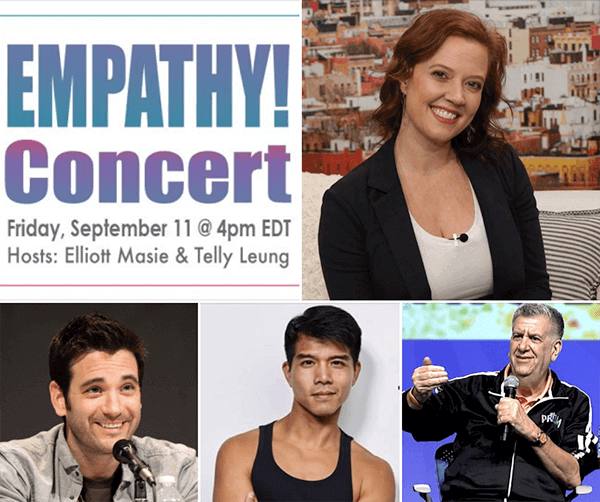 Empathy Concert - Friday, September 11 at 4pm ET