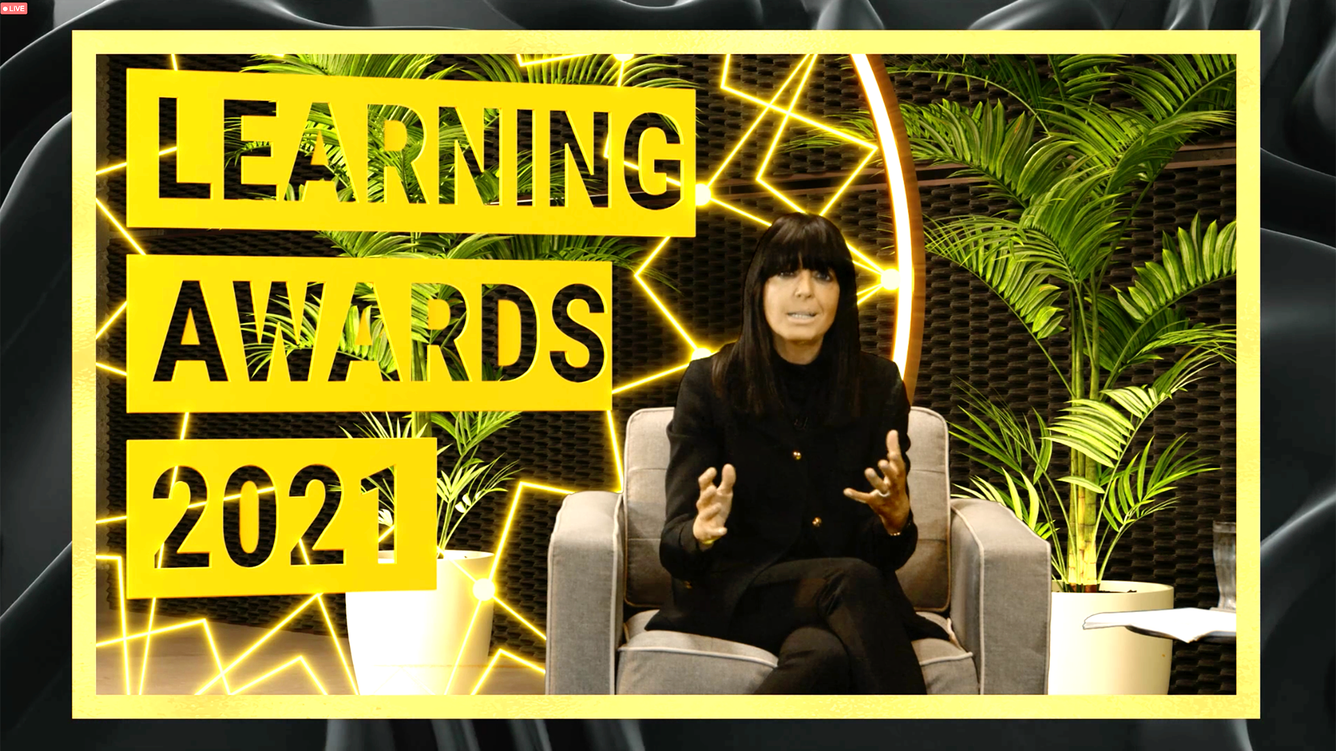 Claudia Winkleman presenting the Learning Awards 2021